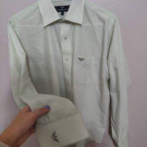 Men 100% Fine Yarn Giorgio Armani Mint Green Shirt